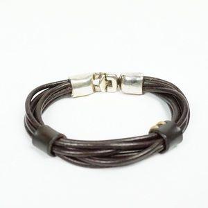 UNO DE 50 Multi-Strand Leather Bracelet
